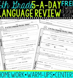FREE 6th Grade Daily Language Spiral Review • Teacher Thrive [ 1276 x 1276 Pixel ]