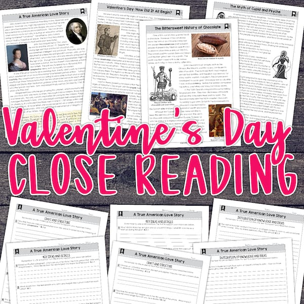 valentines day close reading