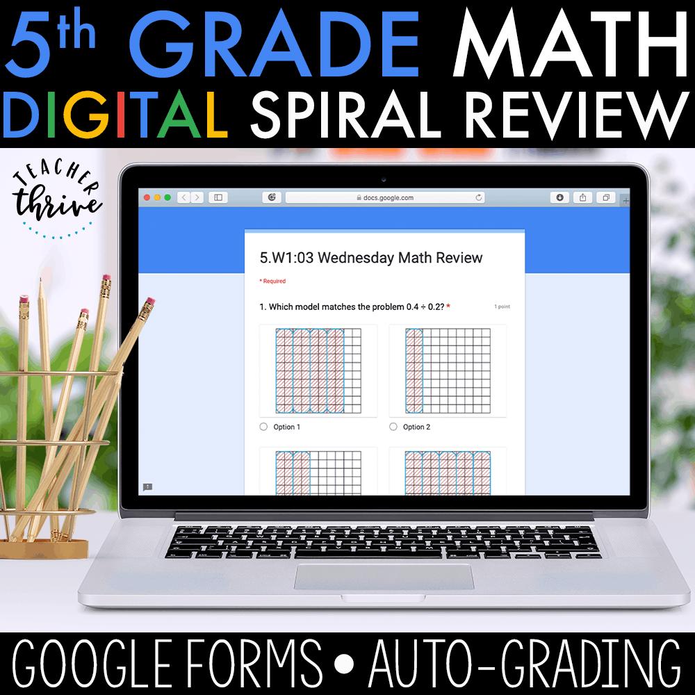 medium resolution of 5th Grade Daily Math Spiral Review DIGITAL • Teacher Thrive