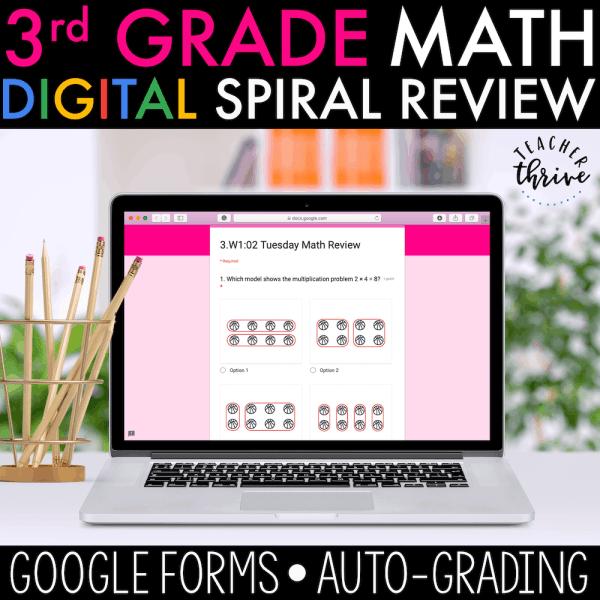 3rd grade digital spiral review