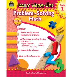 TeacherToolsInc.com-Daily Warm-Ups Problem Solving Math Grade 1 [ 900 x 900 Pixel ]