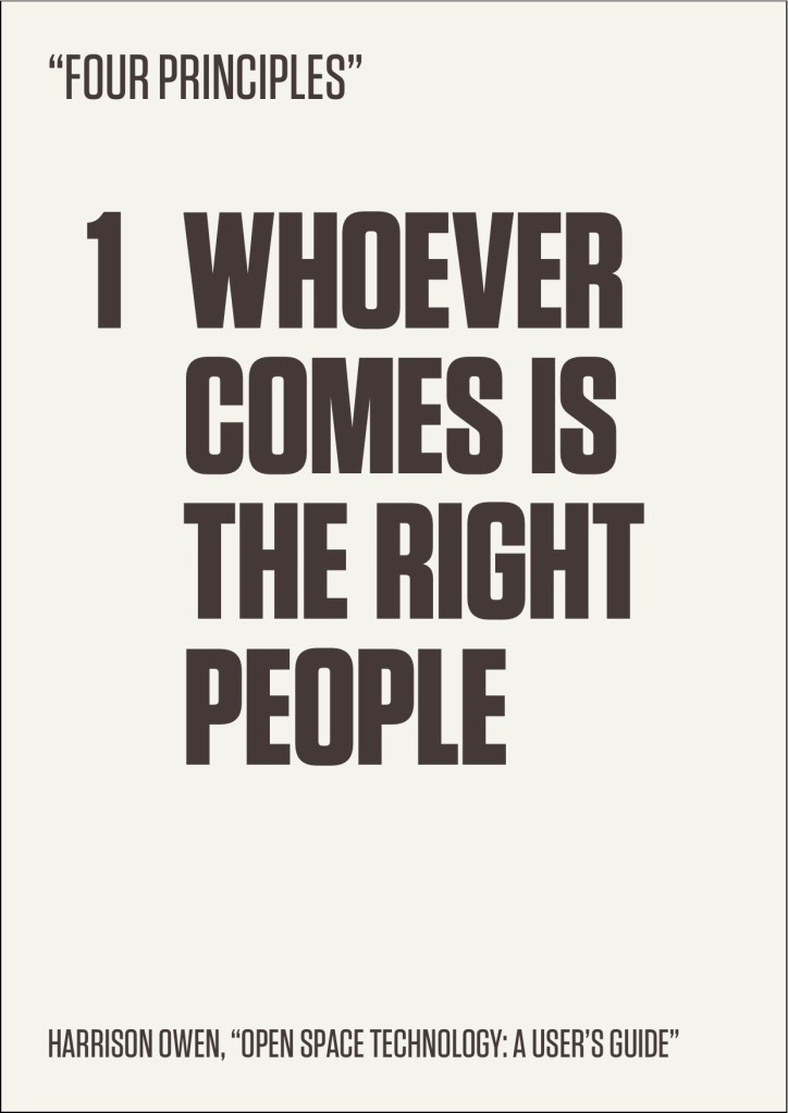 Whoever Comes is The Right People