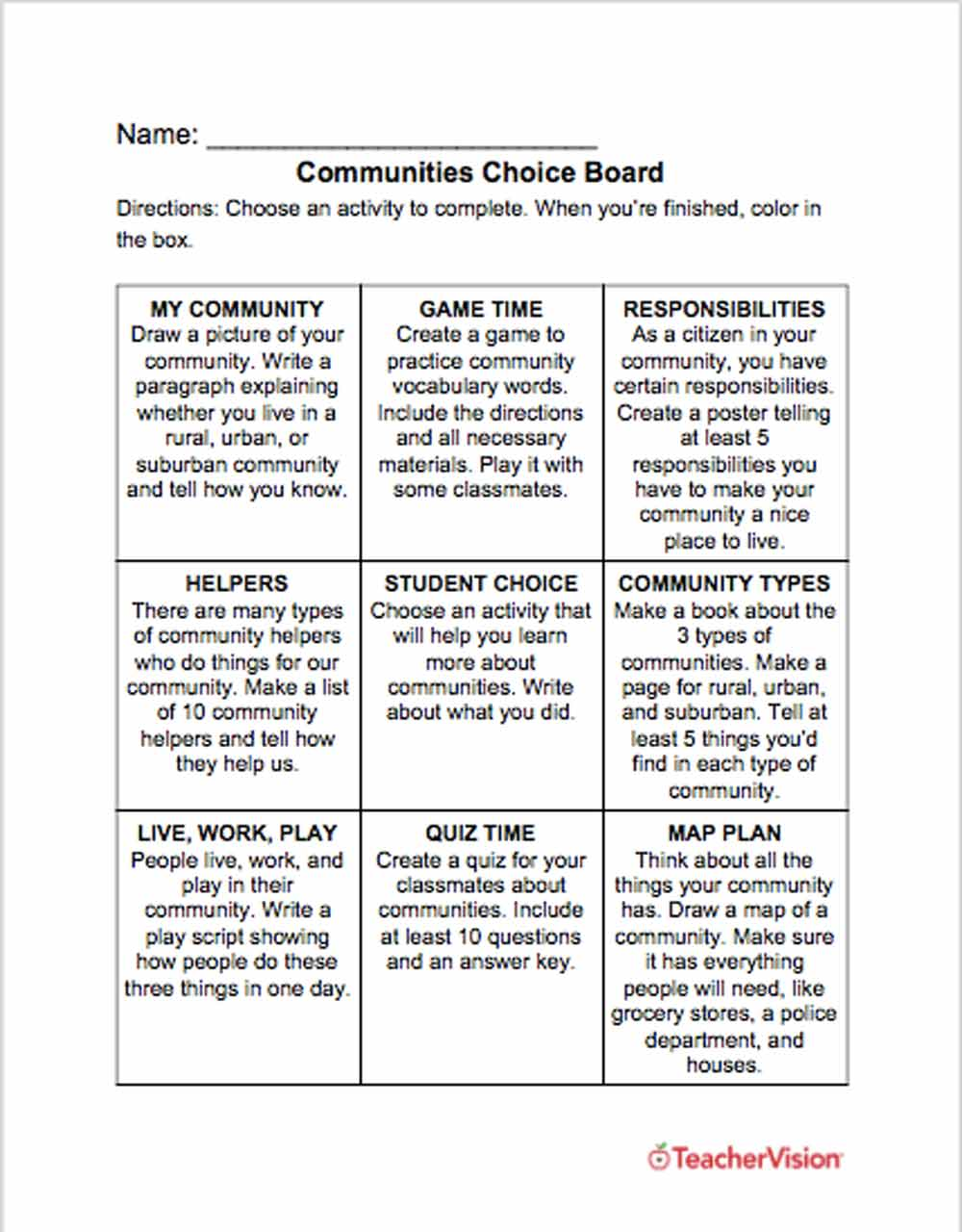 Compare And Contrast Essay Example For College Graphic Organizers For Teachers Grades K 12 Teachervision