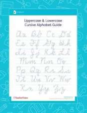 Alphabet In Cursive Writing : alphabet, cursive, writing, Cursive, Alphabet, Printable, Worksheet, TeacherVision