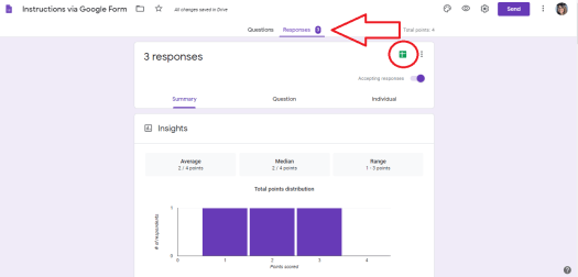 Google Forms to make Lessons Student Work