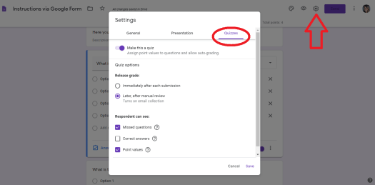 Google Forms to make Lessons Basics