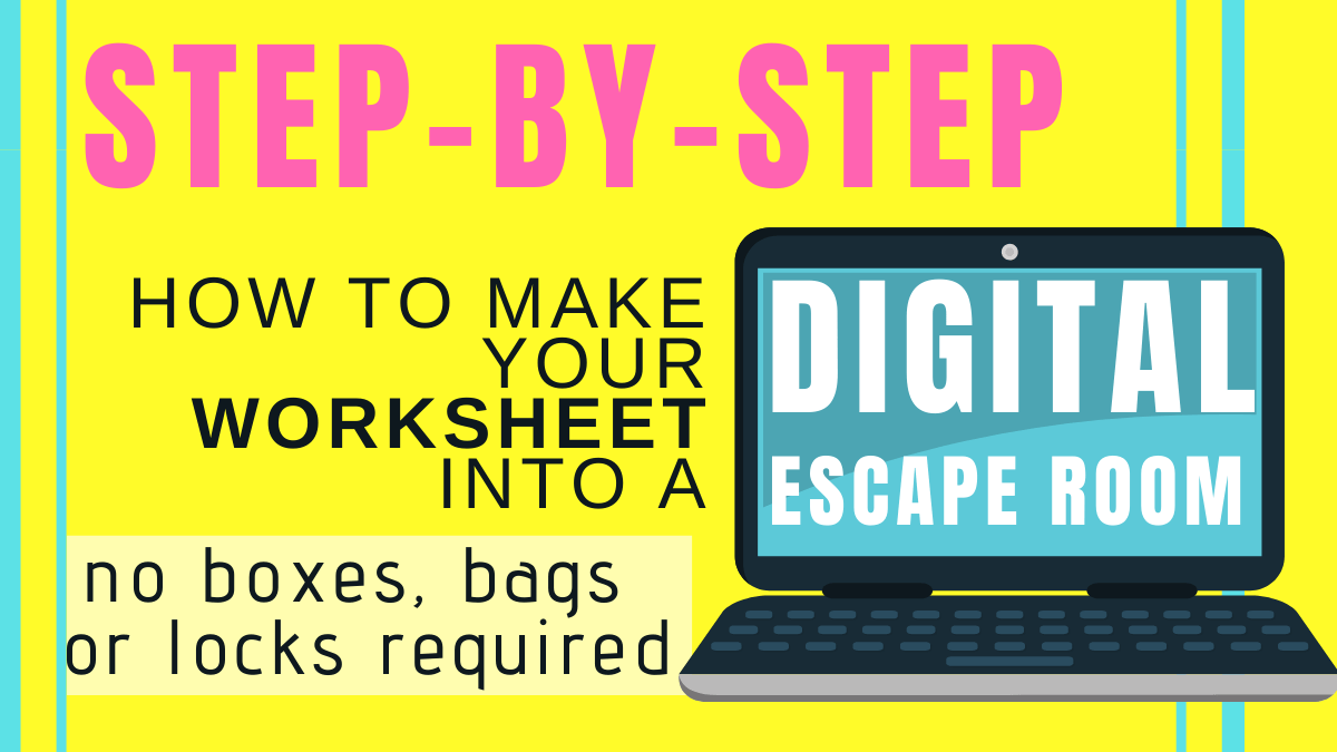 hight resolution of Make Any Worksheet Into an Escape Room in the Classroom -