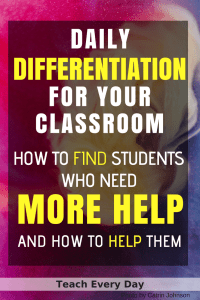 Differentiation for the classroom - how to find students who need more help, and how to help them.