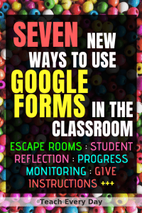 Seven ways to use Google Forms in the classroom