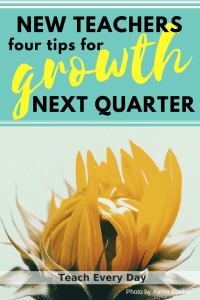 New Teacher tips - opportunities for growth next quarter