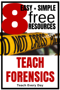 Eight free forensic teaching resources