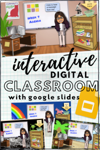 Make your own interactive digital classroom using Google Slides!