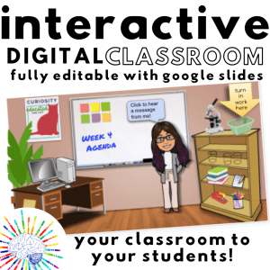 Get these fully editable templates to make your own Interactive Digital Classroom!