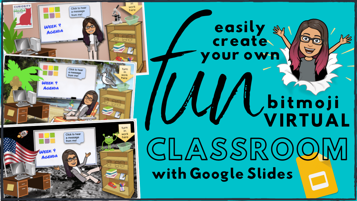Instructions to create your own Bitmoji virtual classroom with Google Slides.