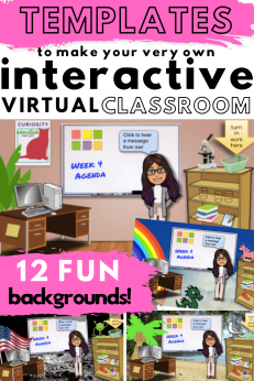 Use these virtual classroom templates to easily make your own!