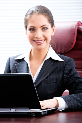 Woman Computing Address Verification