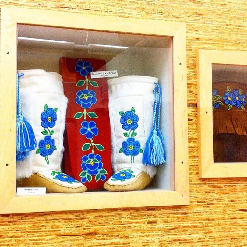 Community donated artefacts honour the unique heritage of students at K'Alemi Dene School.
