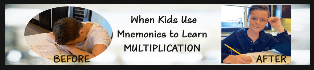 Use mnemonics, a right brain math method, to teach times tables to students with learning disabilities.