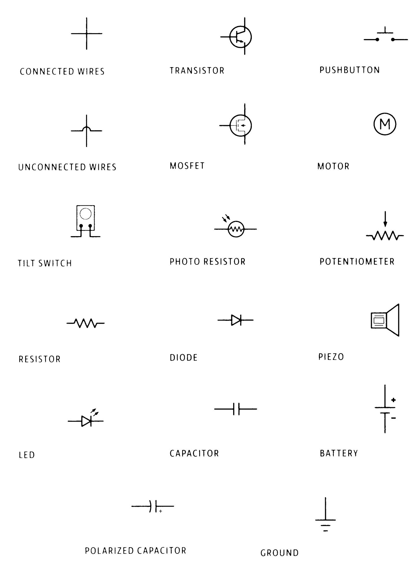 hight resolution of schematic symbols