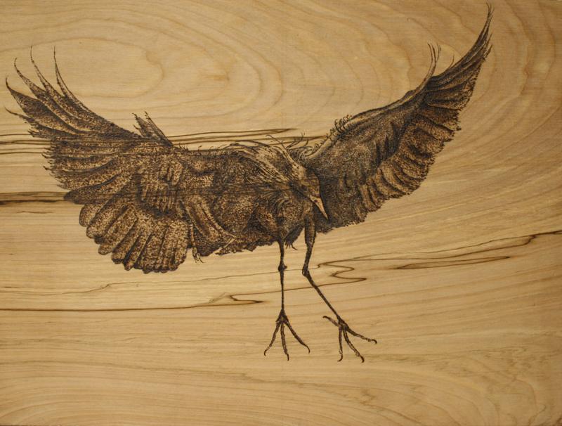 Woodburning Pyrography Drawing – Alternative Materials