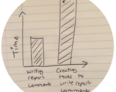 Writing report comments ….. using a little bit of statistics :-)