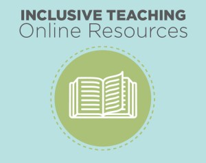 A decorative graphic for inclusive teaching online resources