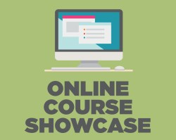 Graphic of computer for Online Course Showcase
