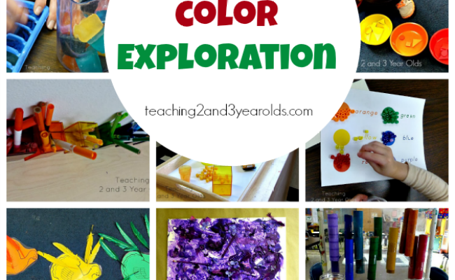 Preschool Color Activities Teaching 2 And 3 Year Olds