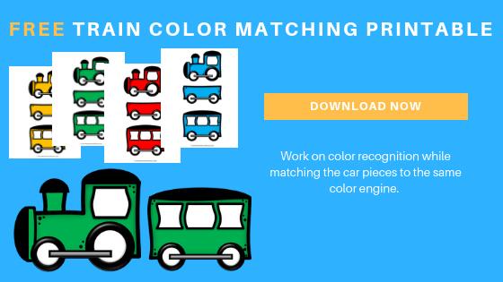 free train color matching printable