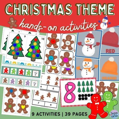 Preschool Christmas Printables Packet