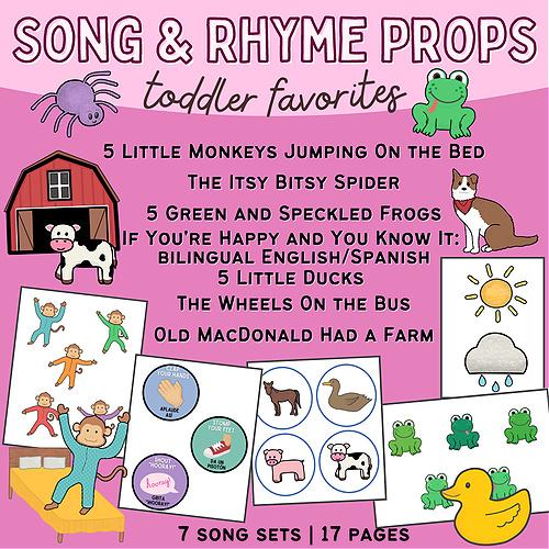 Preschool Songs & Rhymes Props