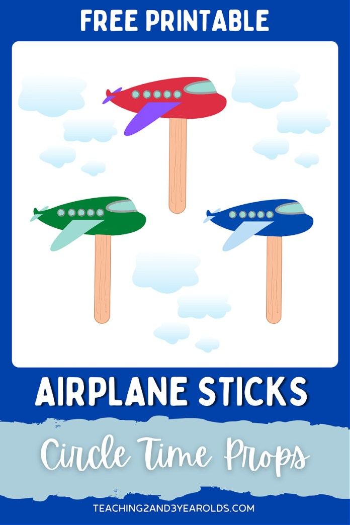 Printable Airplane Circle Time Props