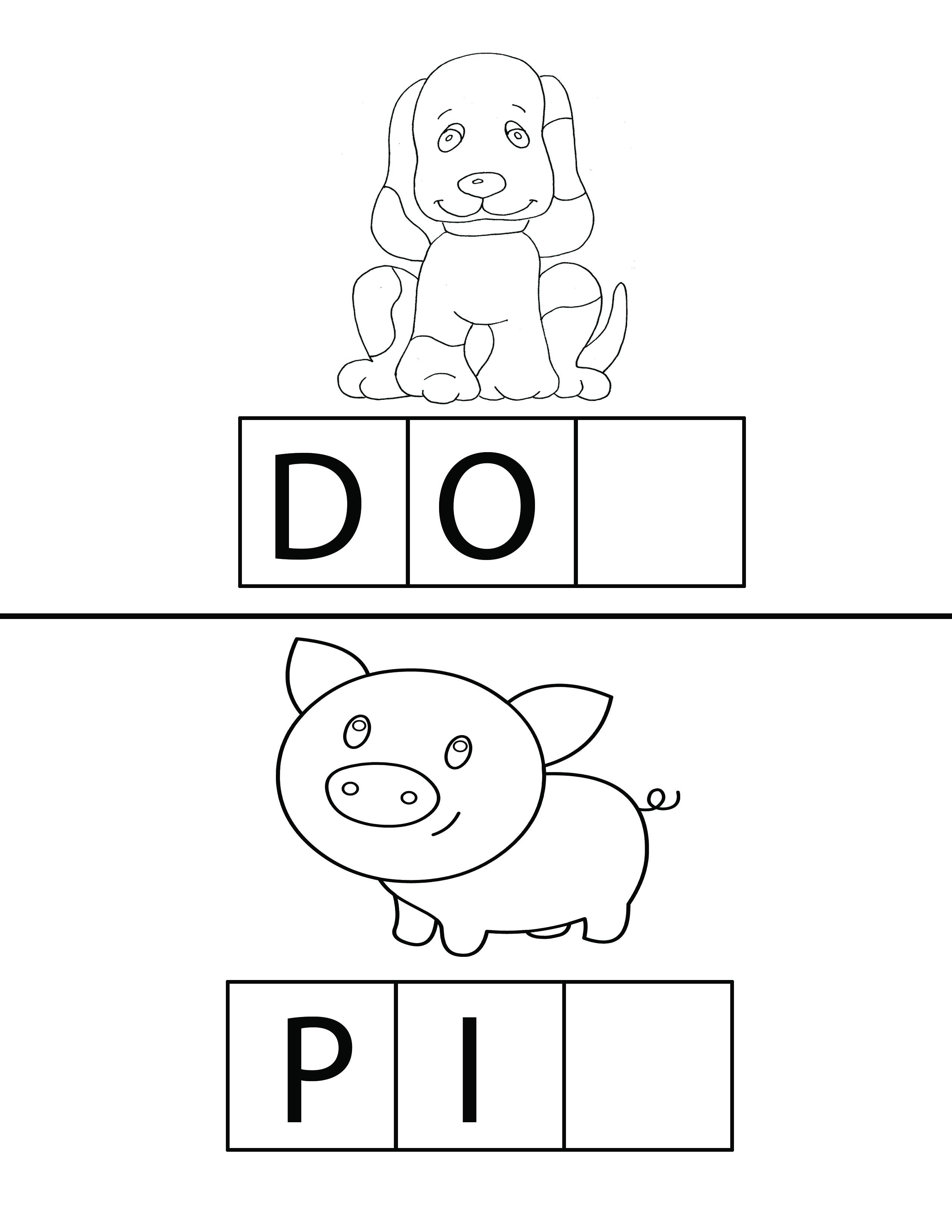 Facing Math Worksheet Pig