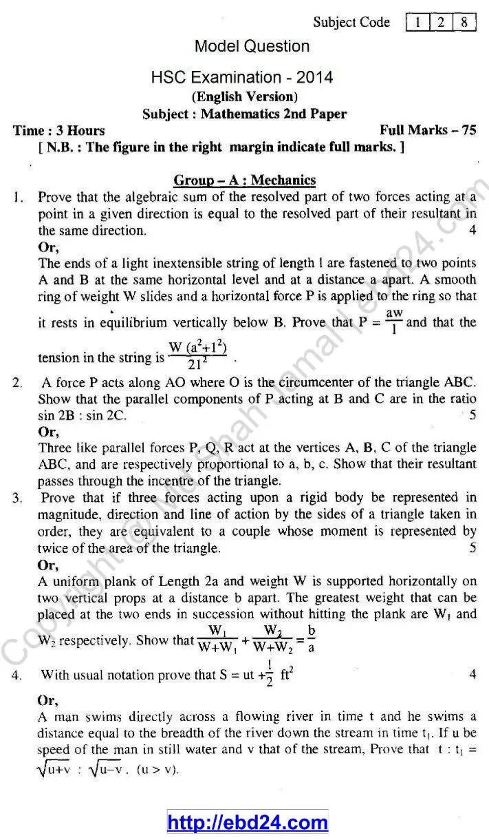English Version Mathematics Suggestion 2014 (1)
