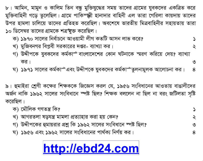 Islamic History Suggestion and Question Patterns of HSC Examination 2014 (3)
