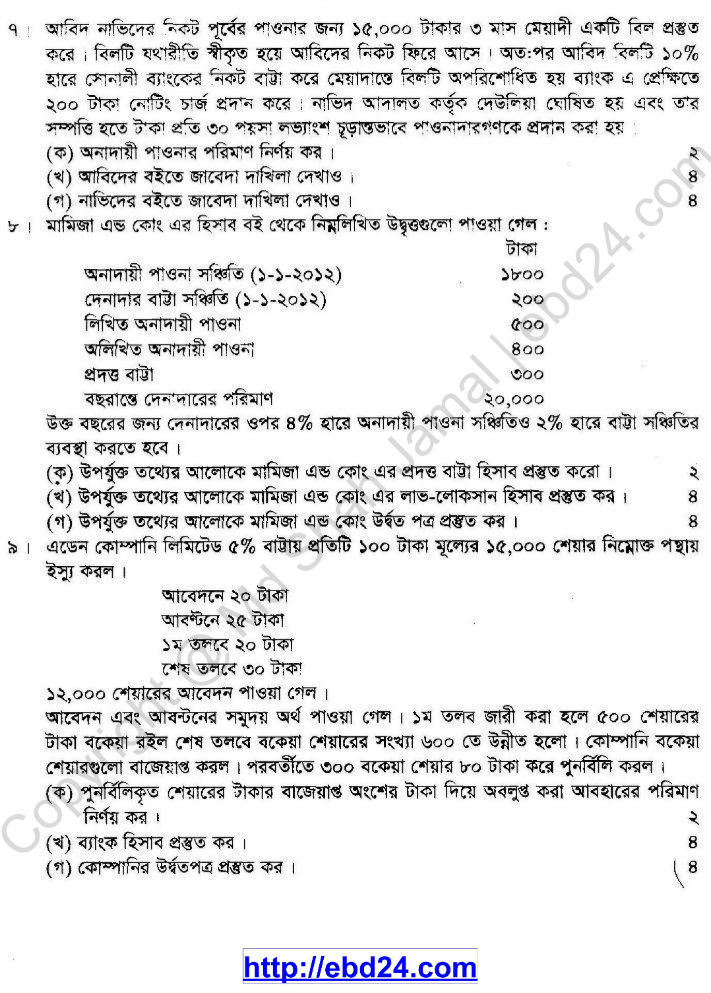 Accounting Suggestion HSC 2014 (4)