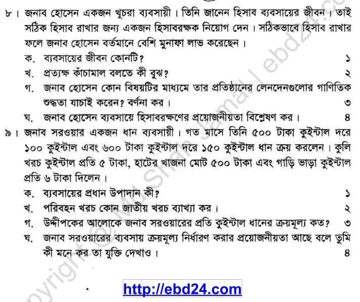 Babosha Uddag Suggestion and Question Patterns of SSC Examination 2014 (3)