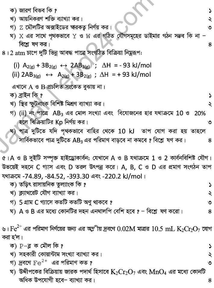 Chemistry- 1st HSC 2014 (2)
