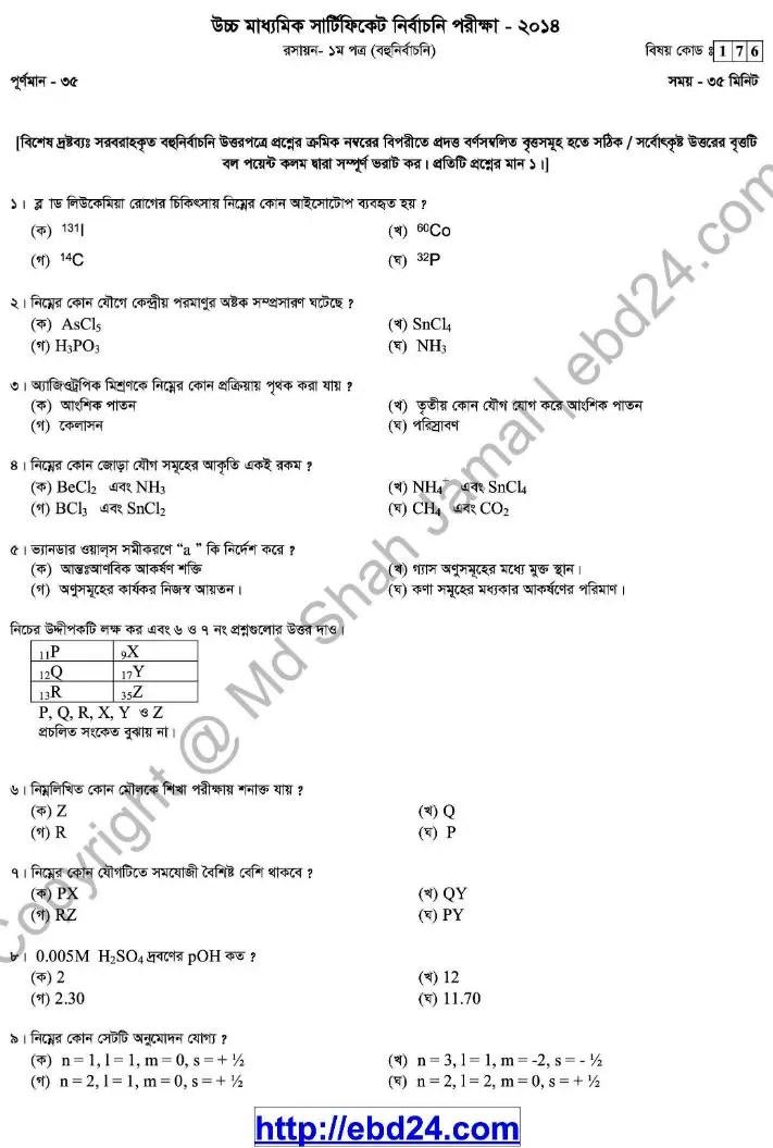 Chemistry- 1st HSC 2014 (3)