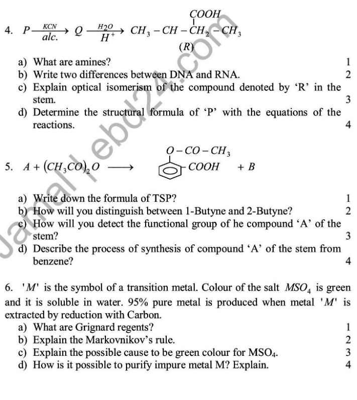 Chemistry- English Version-2nd Exam 2014 (2)