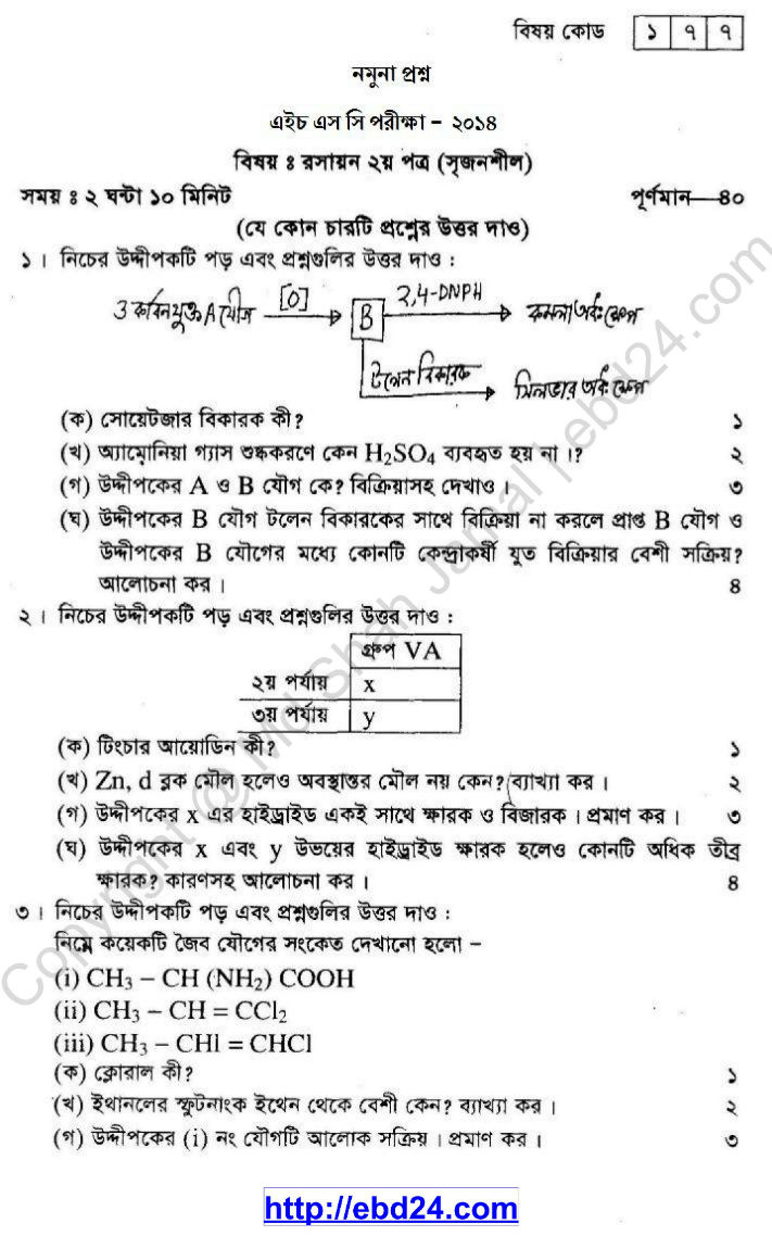 Chemistry Suggestion HSC 2014 (1)