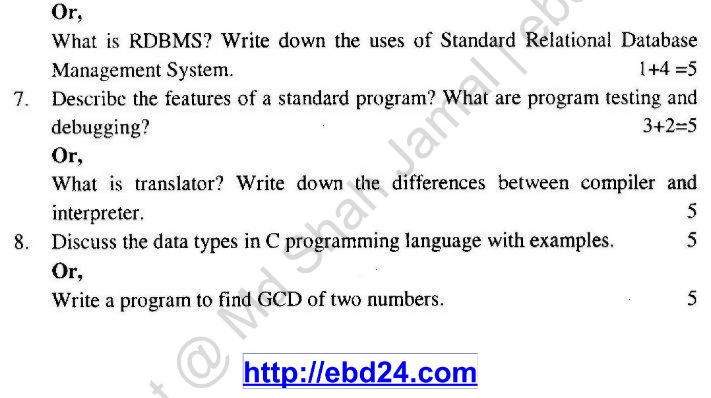 Computer Study Suggestion and Question Patterns of HSC Examination 2014 (2)