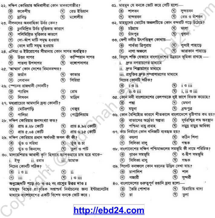Geography Suggestion and Question Patterns of SSC Examination 2014_06