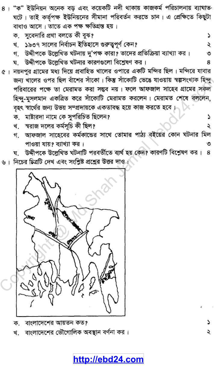 History Suggestion and Question Patterns of SSC Examination 2014 (2)