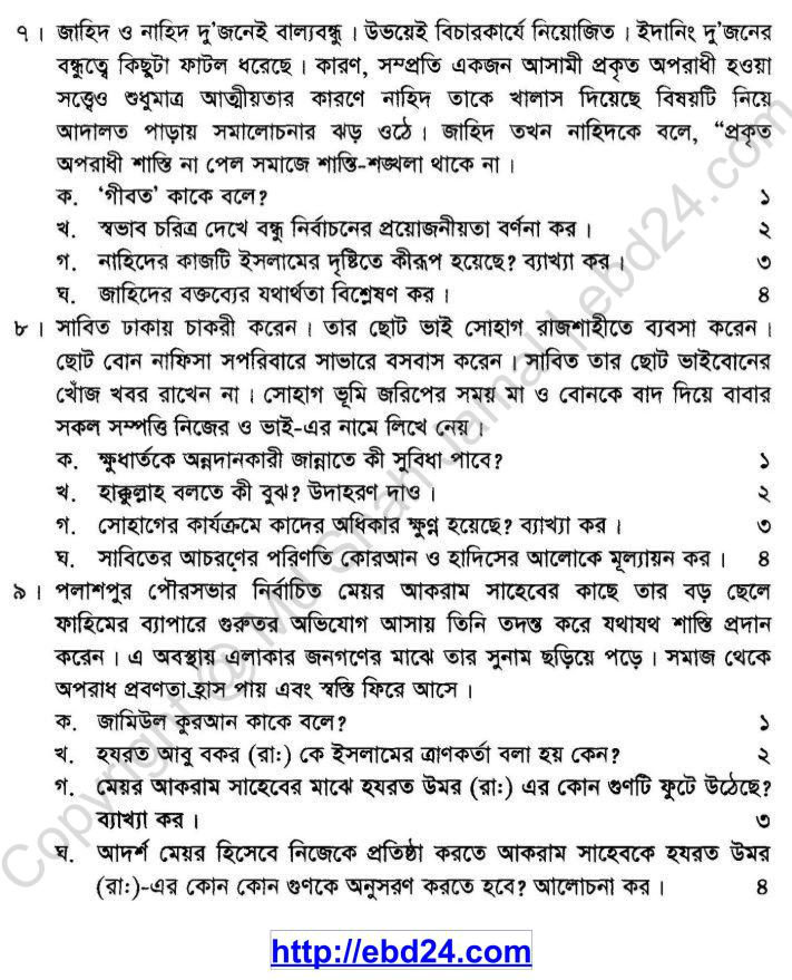 Islam Shikkha Suggestion and Question Patterns of SSC Examination 2014 (3)