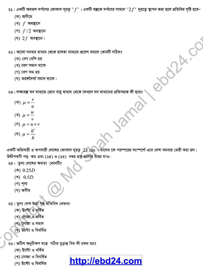 Physics Suggestion and Question Patterns of HSC Examination 2014 (8)