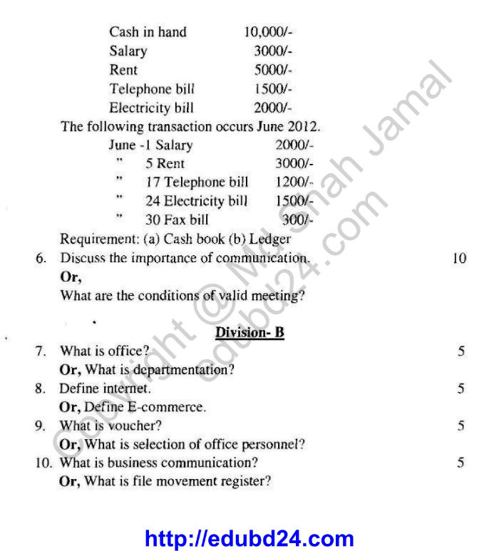 Secretarial Science and Office Management (2)