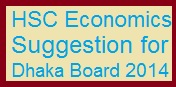 HSC Economics Suggestion for Dhaka Board 2014