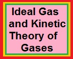 Ideal Gas and Kinetic Theory of Gases 1