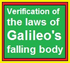 Verification of the laws of Galileo's falling body